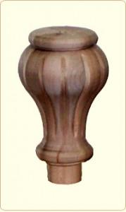 Large Tulip Flute Wood Bunn Furniture Foot 1