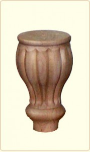 Small Tulip Flute Wood Bunn Furniture Feet 1