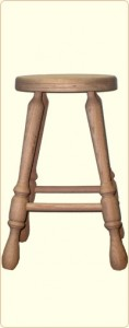 24 Inch Unfinished Oak Bar Stool 1