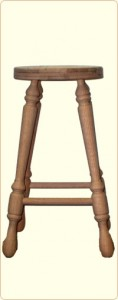 27 Inch Unfinished Oak Bar Stool 1
