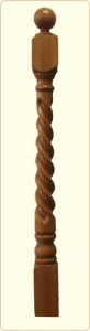Rope Wood Newel Post: Colonial Spindle, 5 in